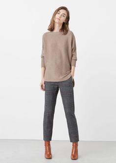 Ribbed cotton-blend sweater   MANGO