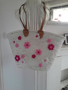 Ibizatasche/Korbtasche/Strandtasche/Tasche  von rosa rot auf DaWanda.com