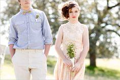 Soft Vintage Engagement Session cute dress