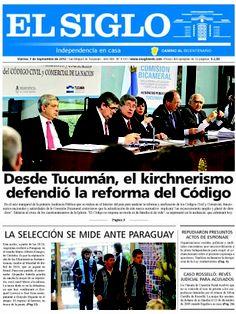 Diario El Siglo - Viernes 7 de Septiembre de 20 12
