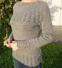 Beautiful lace sweater pattern. Would love to make this.