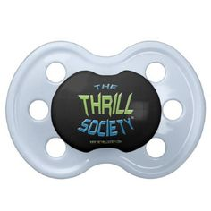The Thrill Society Logo Squeezed Design Pacifier - baby gifts child new born gift idea diy cyo special unique design