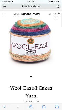 Lion Brand Yarn, Coffee Cans, Wool