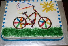 bicycle cake Bike Birthday Parties, 1st Birthday Cakes, 15th Birthday, Birthday Fun, Birthday Ideas, Bicycle Cake, Bike Cakes, Toddler Bike, Party Planning