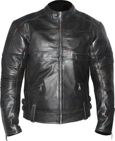 #motorcycle #motorbike #leathers Cruiser Style - Ultra Cool - Retro Look Design: Exactly as shown. Internally high quality dense polyester lined (non-removable). Genuine YKK main zip, matching rear trouser 8 attachment zip, zips on external pockets.
