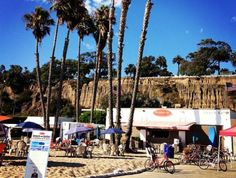 DISCOVER LOS ANGELES:  Photo of the Day - Day 99: Kick back and get some sun at Perry's Cafe & Rentals in Santa Monica or Venice Beach, where you can grab a bite to eat or rent bikes to ride along the shore.
