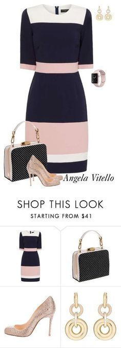 """""""Untitled #1019"""" by angela-vitello ❤ liked on Polyvore featuring Paper Dolls, Christian Louboutin and SPINELLI KILCOLLIN"""