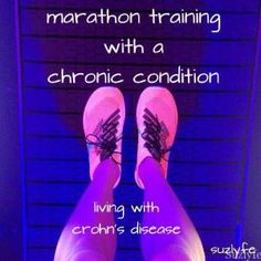 Advice for marathon training with a chronic condition (living with Crohn's Disease) #runchat #fitfluential