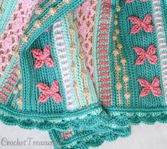 REDUCED PRICE - Mermaid Dreams Throw / new / handmade / afghan blanket / green / pink / coral / sea shell / baby / spring / unique Love Crochet, Crochet For Kids, Crochet Baby, Knit Crochet, Crochet Dishcloths, Tunisian Crochet, Crochet Blankets, Easy Sewing Projects, Crochet Projects