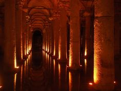 The Basilica Cistern in Istanbul, Turkey, was built by the Romans and shows incredible craftsmanship.The richly decorated cistern was constructed to store water brought in by aqueduct. Now found beneath modern Istanbul, it surprises visitors with its graceful design.
