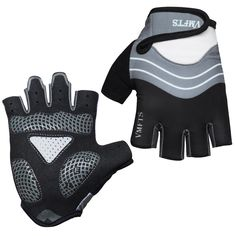 VMFTS Biking Gloves Gel Pading Fingerless Sporting Glove for Weightlifting Racing Cycling Climbing Parkour Running (Black, L). Light and Decent Breathability,the half-finger gloves use high quality elastic lycra. Anti-slip Silicon Padding ,3-panel palm and 5mm gel pad help minimizes bunching absorb. Soft and Highly absorbent fabric on the thumbs to give you a gentle place to wipe your. Velcro Closures that hug wrists for a secure fit; Quick loops ensures easy on/off when sweatys. VMFTS...