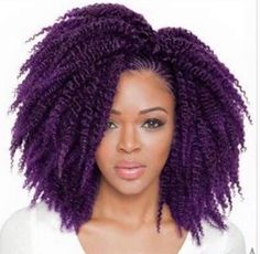 PURPLE!  If I knew I would look good with purple hair I would most definitely dye mine hair.