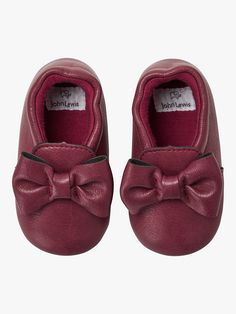 791f2402c9bf BuyJohn Lewis   Partners Baby Mocassin Bow Shoes