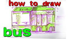 How to draw a green bus