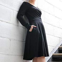 Amazon.com: KASCLINO Women's Floral Printed Dress, A Line Long Sleeve V-Neck Elegant Dress with Pockets: KASCLINO Cheap Vintage Clothing, Vintage Outfits, White Cocktails, Formal Dresses For Women, Floral Prints, V Neck, Pockets, Wine, Amazon