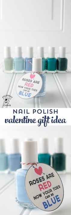 Nail Polish Valentine's Day Gift idea on polkadotchair.com