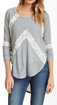 Free People | Flying V Hacci Sweater.  Gorgeously simple, yet elegant.