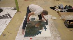 Making of 'Expression 0126' by Tekahem. More information at http://www.tekahem.com/fr/tableaux/451-expression-0126.html #Tekahem, #Expression, #art, #makingof, #painting, #peinture