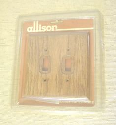 New In Package Dead Stock Allison Genuine Oak Decor Double Two Switch Plate Style Rustic Country Charm Simple Stain Warm Brown Color BIN by HerOptionsforYou on Etsy