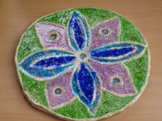 Keramika se sklem-mandala