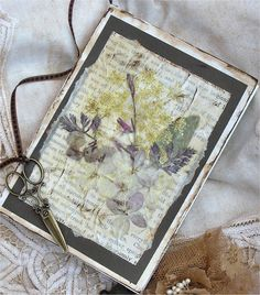 Her Creative Spirit: Cut, Dried, Pressed and Preserved - how to make dried flower tissue paper