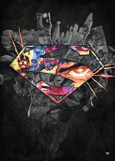 Drawing Dc Comics superman symbol hope - See amazing artworks of Displate artists printed on metal. Easy mounting, no power tools needed. Superman Symbol, Superman Man Of Steel, Superman Comic, Superman Logo, Batman Comics, Dc Comics, Black Superman, Superhero Superman, Spiderman