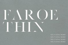 Faroe Thin A Stunning Serif Fonts This thin variant of Faroe Regular features sleek lines and thin serifs. Perfect for gorgeous logos by Jen Wagner Co Business Brochure, Business Card Logo, Lenotre, English Characters, Typography Fonts, Serif Font, Typography Alphabet, Typography Design, Script Type