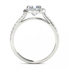 Floating Halo Diamond Engagement Ring - The result is a refined and feminine design that allows greater light flow into the diamond, enhancing its brilliance