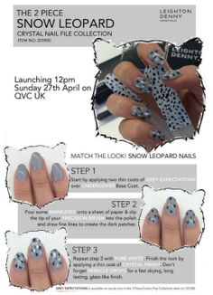 We're a bit obsessed with @Leighton Phillips Denny Nails' Snow Leopard Crystal Nail File, and even more obsessed when our nails match!