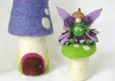 Tiny Purple and Green Fairy  Waldorf Art Doll by moonforest, $12.00