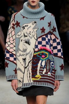 Antonio Marras | Fall'14 Ugly sweaters but I would totally wear this at home or whatever