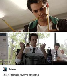 Is Stiles even ambidextrous?