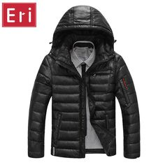 Brand Winter Men's Down Jackets Slight Waterproof Casual Outerwear Snow Coats Thick Hooded Duck Down Jacket For Man 3XL X426