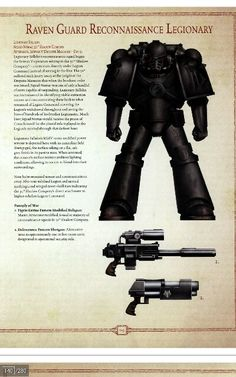 Raven Guard space marine scout