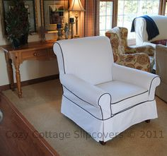 Cozy Cottage Slipcovers: A Chair and a Loveseat