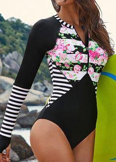 19 Trendy Swimwear One Piece Black Long Sleeve Bathing Suits One Piece, Cute Bathing Suits, One Piece Swimwear, Trendy Swimwear, Cute Swimsuits, Fashion Swimsuits, Fashion Dresses, Swimwear Cover Ups, Bikini Swimwear