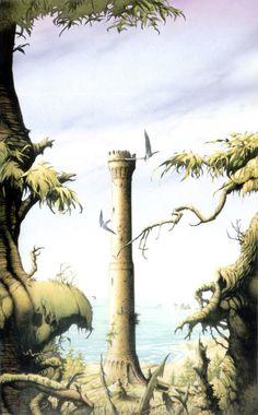 The Old Shot Tower - Rodney Matthews Sci Fi Fantasy, Fantasy World, Bilal, Heavy Metal Art, Science Fiction Art, Barbarian, Fantasy Artwork, Portfolio Design, Dungeons And Dragons