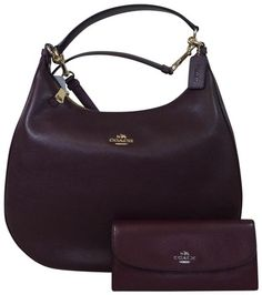 738639d61afe Coach Oxblood Harley + Wallet Burgundy Leather Hobo Bag. Hobo bags are hot  this season