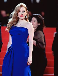 """Jessica Chastain attends """"The Disappearance of Eleanor Rigby"""" premiere during the 67th Annual Cannes Film Festival on May 17, 2014 in Cannes, France."""