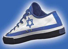 ART SHOE FLAG ISRAEL