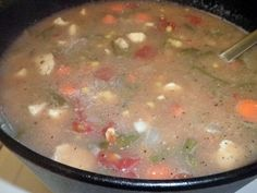 Dutch Oven Chicken Veggie Soup