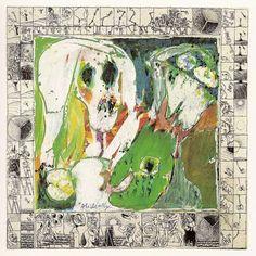 """Pierre Alechinsky, """"La Jeune Fille et la Mort"""" [The Young GIrl and Death] (1966-1967)"""