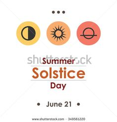 Vector illustration for summer solstice day in june poster design on white background