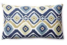 Diamond 12x20 Outdoor Pillow, Blue on OneKingsLane.com