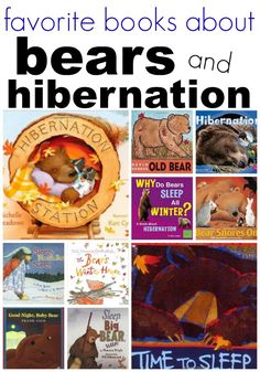 Bear and Hibernation Books for Preschool and Kindergarten. Learning about seasons, winter, bears and hibernation can be fun with this list of favorite books for kids!