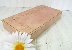 Vintage Blush Pink Jewelry Box  Retro Cigar by DivineOrders, $9.00