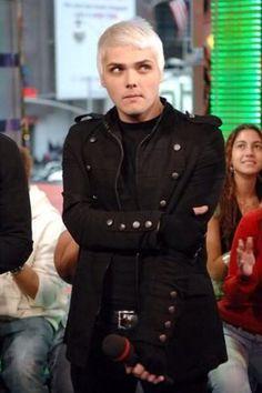 White hair Gerard way black parade era