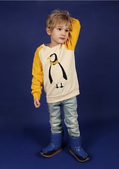 MINI RODINI, PENGUIN SWEATSHIRT,  via Coolkids. Click on the image to see more!