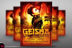 Geisha Party Flyer Template V3 by Thats Design Studio on Creative Market