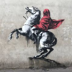 Banksy appears to have taken aim at France's politics with six new works in Paris. The new graffiti has popped up around the French capital over the past few days. Banksy Graffiti, Street Art Banksy, Arte Banksy, Graffiti Bombing, Banksy Artwork, Street Art News, Street Artists, Bansky, Banksy Paintings